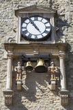 Reloj y carillón de la torre de Carfax en Oxford fotos de archivo libres de regalías