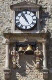Reloj y carillón de la torre de Carfax en Oxford imágenes de archivo libres de regalías
