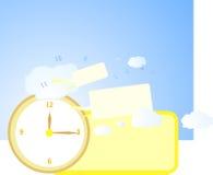 Reloj y cielo grandes Fotografía de archivo libre de regalías