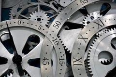 Reloj y engranajes Fotografía de archivo