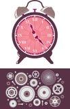 Reloj y engranajes Imagenes de archivo