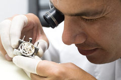 Relojero imagen de archivo
