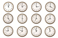 Relojes Imágenes de archivo libres de regalías