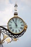 Relojes antiguos de la calle Foto de archivo libre de regalías