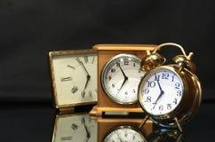 Relojes de alarma Imagen de archivo libre de regalías