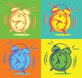 Relojes de alarma Fotografía de archivo