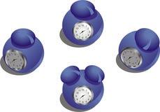 Relojes de alarma Foto de archivo libre de regalías