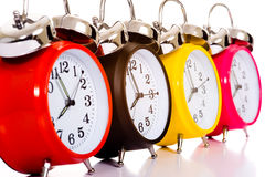 Relojes de alarma imagen de archivo