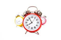 Relojes de alarma Imágenes de archivo libres de regalías