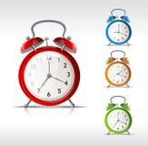 Relojes de alarma del vector Imágenes de archivo libres de regalías