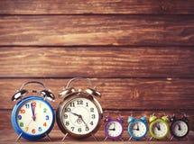 Relojes de alarma retros Foto de archivo libre de regalías