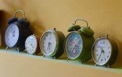 Relojes de alarma retros Fotografía de archivo