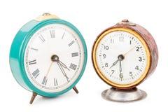 Relojes de alarma viejos Foto de archivo libre de regalías