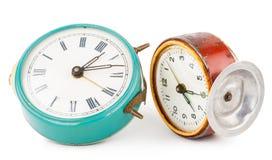 Relojes de alarma viejos Fotos de archivo