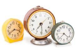 Relojes de alarma viejos Foto de archivo