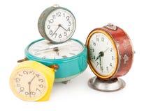 Relojes de alarma viejos Imagenes de archivo
