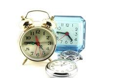 Relojes de alarma y relojes Imagen de archivo libre de regalías