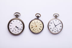 3 relojes de bolsillo Fotos de archivo