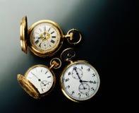 Relojes de bolsillo antiguos Imagen de archivo libre de regalías