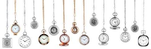 Relojes de bolsillo de la vendimia Foto de archivo libre de regalías