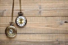 Relojes de bolsillo del vintage Fotos de archivo libres de regalías