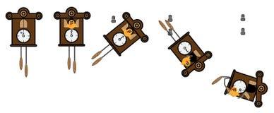Relojes de cuco que caen Imágenes de archivo libres de regalías