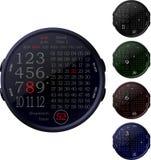 Relojes de Digitaces Fotografía de archivo libre de regalías