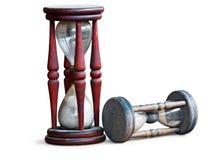 Relojes de la arena imágenes de archivo libres de regalías