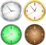 Relojes de la oficina Imágenes de archivo libres de regalías