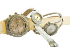 Relojes de las mujeres Imágenes de archivo libres de regalías
