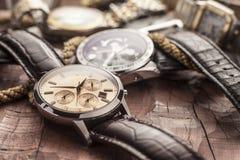 Relojes de los hombres Imágenes de archivo libres de regalías
