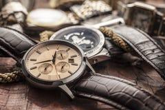 Relojes de los hombres Imagen de archivo