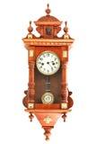 Relojes de madera viejos Foto de archivo libre de regalías