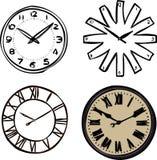 Relojes de pared Fotografía de archivo libre de regalías
