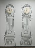 Relojes de pared adhesivos Imagen de archivo libre de regalías