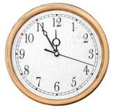 Relojes de pared aislados Imagen de archivo