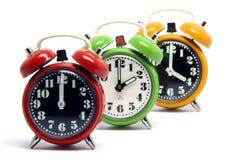 Relojes del color Imagen de archivo libre de regalías