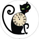 Relojes del gato Imagen de archivo libre de regalías