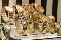 Relojes del lujo de Michael Kors Fotografía de archivo