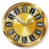 Relojes del vintage del oro Imagen de archivo