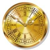 Relojes del vintage del oro Fotos de archivo