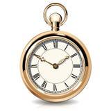 Relojes del vintage del oro Imagenes de archivo