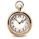 Relojes del vintage del oro ilustración del vector