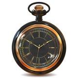 Relojes del vintage del oro Imagen de archivo libre de regalías