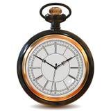 Relojes del vintage del oro Fotografía de archivo