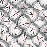 Relojes en burbujas - plazos y concepto de la gestión de tiempo stock de ilustración