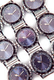 Relojes en el fondo blanco Foto de archivo