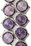 Relojes en el fondo blanco Fotos de archivo