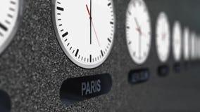 Relojes exactos con zonas de momento diferente todos en todo el mundo ilustración del vector