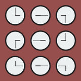 Relojes mínimos Fotografía de archivo libre de regalías